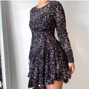 Gorgeous polka dot dress!